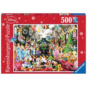 Disney - 14739 - Puzzle 500 pièces - Le train de Noël Disney EDITION NOEL (341362)