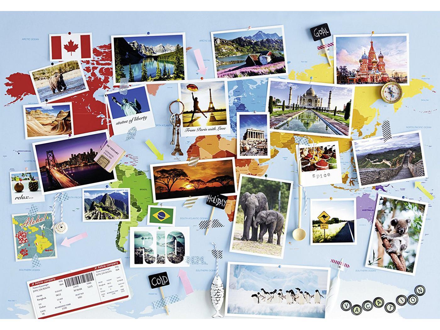 Ravensburger puzzle 1000 pi ces voyage autour du monde for Chambre complete adulte payer en plusieurs fois