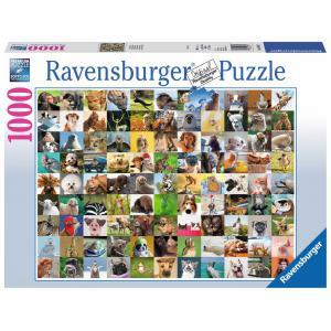 Ravensburger - 19642 - Puzzle 1000 pièces - 99 drôles animaux (341374)