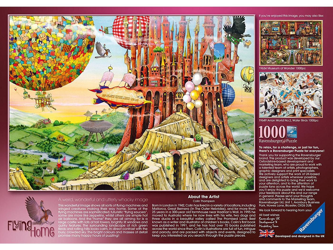 Ravensburger puzzle 1000 pi ces la maison volante for Chambre complete adulte payer en plusieurs fois