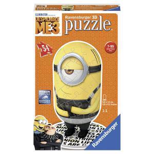 Ravensburger - 11671 - 3D Puzzles shaped-Moi, moche et méchant 3-54 pc - Moi, moche et méchant 3 - motif 2 (341418)
