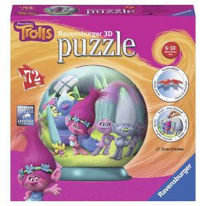 Ravensburger - 12197 - 3D Puzzles ronds - 72 pièces - Trolls (341428)
