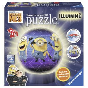 Ravensburger - 11819 - 3D Puzzles ronds - 72 pièces - Collection illuminée - Moi, moche et méchant 3 (341440)