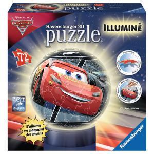 Ravensburger - 11818 - 3D Puzzles ronds - 72 pièces - Collection illuminée - Cars 3 (341442)
