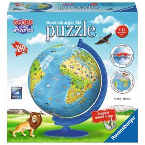 Ravensburger - 12339 - Puzzle 3D rond 180 pièces - Globe (341444)