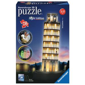 Ravensburger - 12515 - Puzzle 3D Building - Collection midi illuminée - Tour de Pise - Night Edition (341450)
