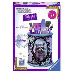 Ravensburger - 12078 - Puzzle 3D Pot à crayons - Pot à crayons - Girly Girl - Animal Trend (341452)