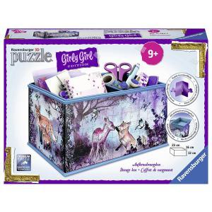 Ravensburger - 12084 - 3D Puzzle Objets 216 pièces - Boîte de rangement - Girly Girl - Animal Trend (341462)
