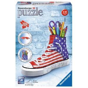 Ravensburger - 12549 - 3D Puzzle Objets 108 pièces - Sneaker American Style (341468)