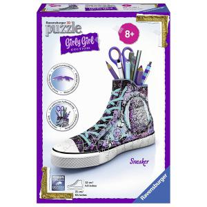 Ravensburger - 12085 - 3D Puzzle Objets 108 pièces - Sneaker - Girly Girl - Animal Trend (341470)