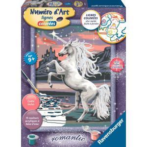 Ravensburger - 28591 - Numéro d'Art moyen format lignes colorées - Jeu créatif - Majestueuse licorne (341548)