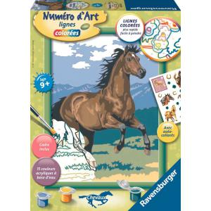 Ravensburger - 28593 - Numéro d'art Etalon chocolat au galop- moyen format collection chevaux (341560)