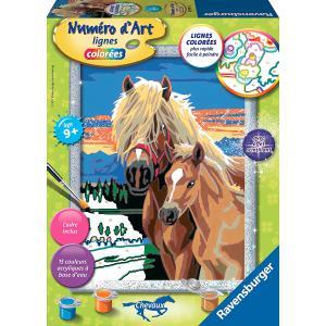 Ravensburger - 28595 - Numéro d'art Chevaux dans la nuit- moyen format collection chevaux (341562)