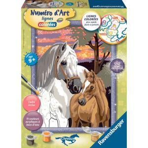 Ravensburger - 28598 - Numéro d'art Chevaux au coucher de soleil- moyen format collection chevaux (341566)