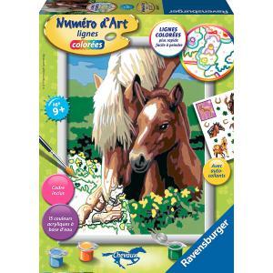 Ravensburger - 28602 - Numéro d'art Tendre jument et son poulain- moyen format collection chevaux (341568)