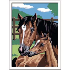 Ravensburger - 28603 - Numéro d'Art moyen format - Collection chevaux lignes colorées - Jeu créatif - Tendresse (341570)