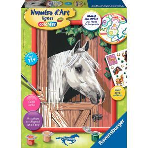 Ravensburger - 28605 - Numéro d'art Cheval blanc dans son box- moyen format collection chevaux (341572)