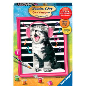Ravensburger - 28441 - Numéro d'Art grand format  - Chat musicien (341578)