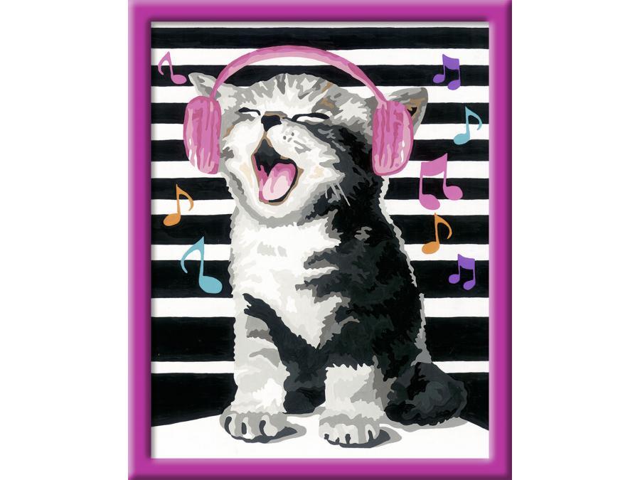 Ravensburger num ro d 39 art grand format chat musicien - Photo d art grand format ...