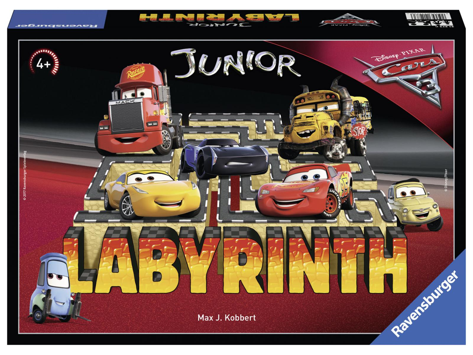 ravensburger jeu de soci t enfants jeu de r flexion labyrinthe junior cars 3. Black Bedroom Furniture Sets. Home Design Ideas