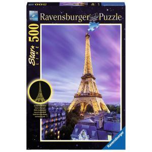 Ravensburger - 14898 - Puzzle 500 pièces - Star Line Collection - Tour Eiffel scintillante (341658)