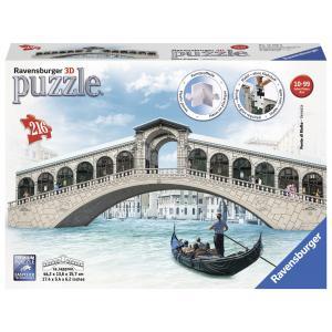 Ravensburger - 12518 - 3D puzzle Building 216 pièces - Pont du Rialto / Venise (341688)