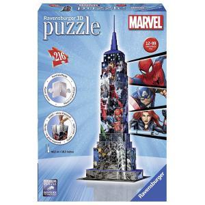 Ravensburger - 12517 - 3D puzzle Building 216 pièces - Empire State Building Marvel Avengers (341690)