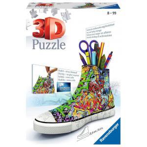 Ravensburger - 12535 - 3D puzzle Building 108 pièces - Sneaker Graffiti (341692)