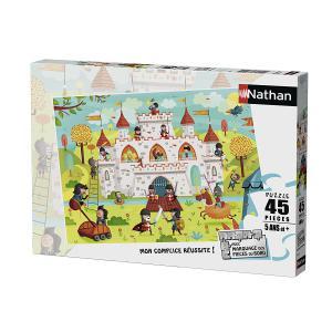 Nathan puzzles - 86467 - Puzzle 45 pièces - A l'assaut du château fort ! (341732)