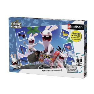 Nathan puzzles - 86602 - Puzzle 60 pièces - Course folle / Lapins Crétins (341738)