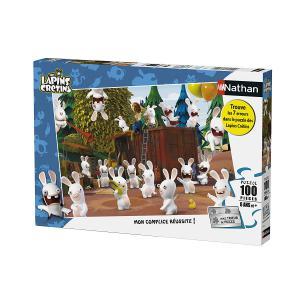 Nathan puzzles - 86744 - Puzzle 100 pièces - L'invasion des Lapins Crétins (341744)
