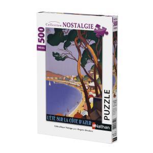 Nathan puzzles - 87145 - Puzzle 500 pièces - Côte d'Azur vintage (341764)