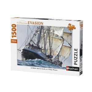 Nathan puzzles - 87781 - Puzzle 1500 pièces - Le Belem dans la houle (341778)