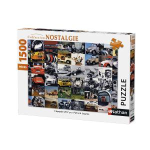 Nathan puzzles - 87780 - Puzzle 1500 pièces - Nathan - L'épopée 2CV / Citroën (341782)