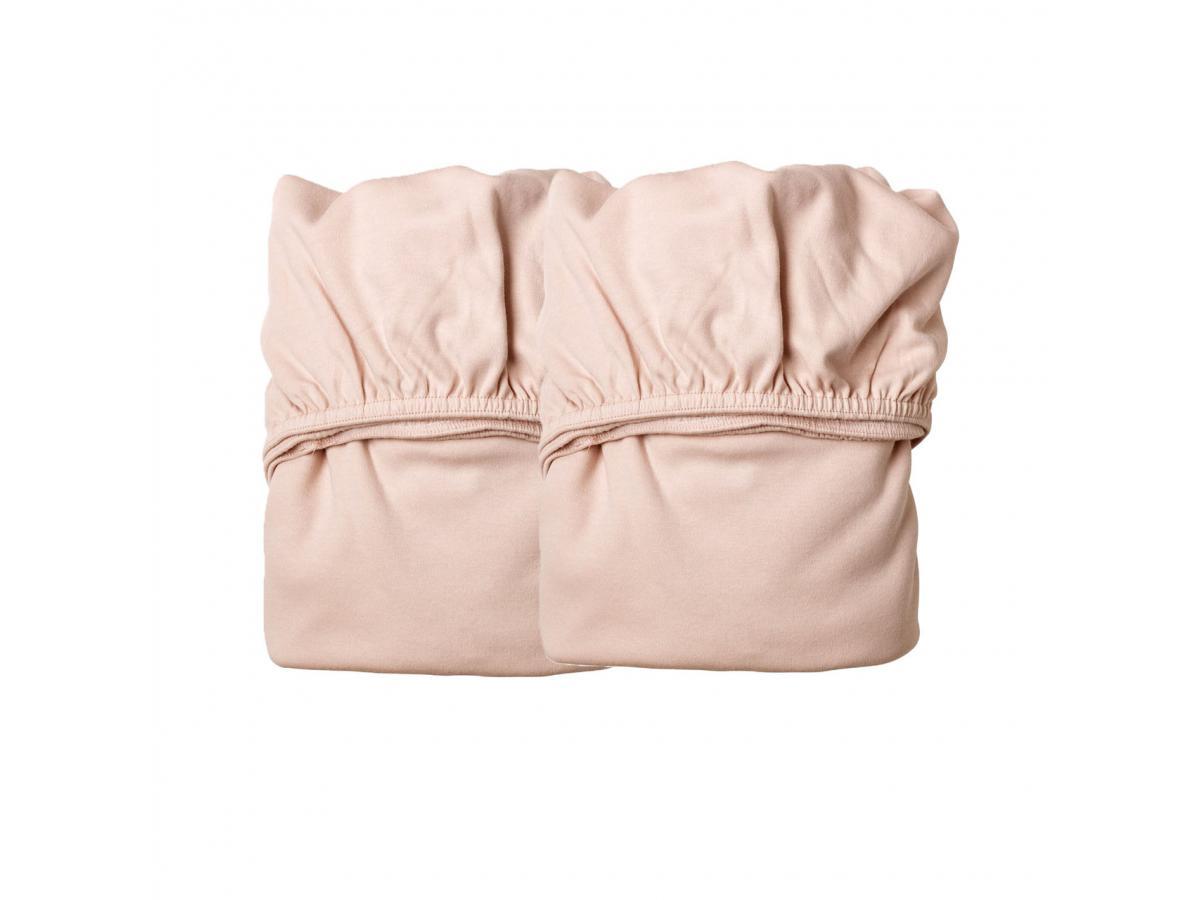 leander lot de 2 draps housse rose pale pour berceau suspendu leander. Black Bedroom Furniture Sets. Home Design Ideas