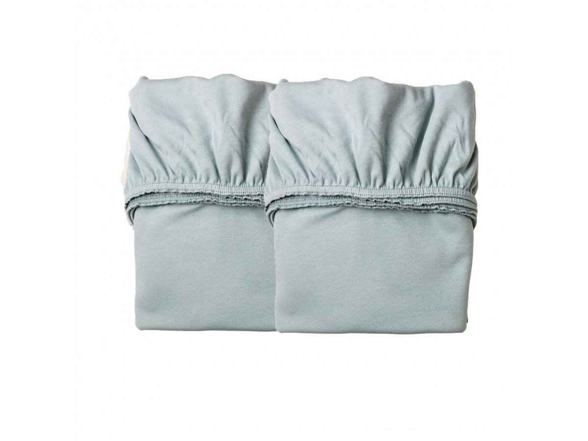 leander lot de 2 draps housse bleu pale pour berceau suspendu leander. Black Bedroom Furniture Sets. Home Design Ideas
