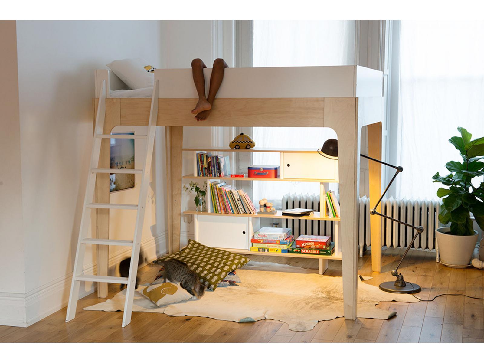 lit mezzanine perch noyer. Black Bedroom Furniture Sets. Home Design Ideas