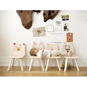 Oeuf NYC  - 1PYCR01 - Lot de 2 chaises enfant Play dossier Lapin en bouleau naturel (341948)