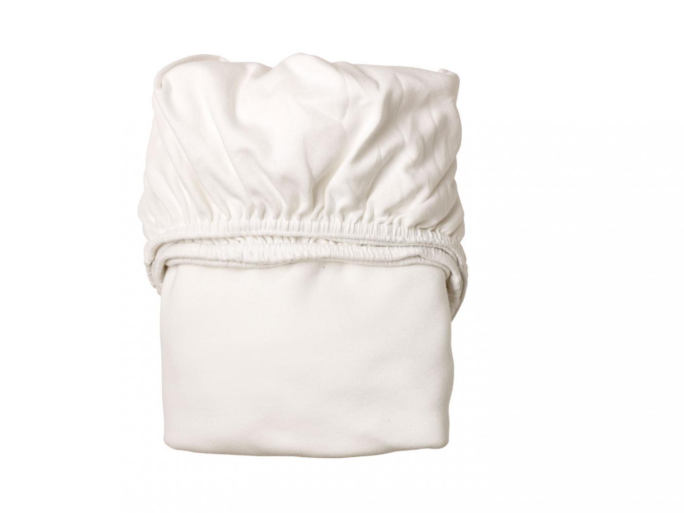 Leander draps housse b b blanc pour lit b b volutif for Drap housse lit evolutif