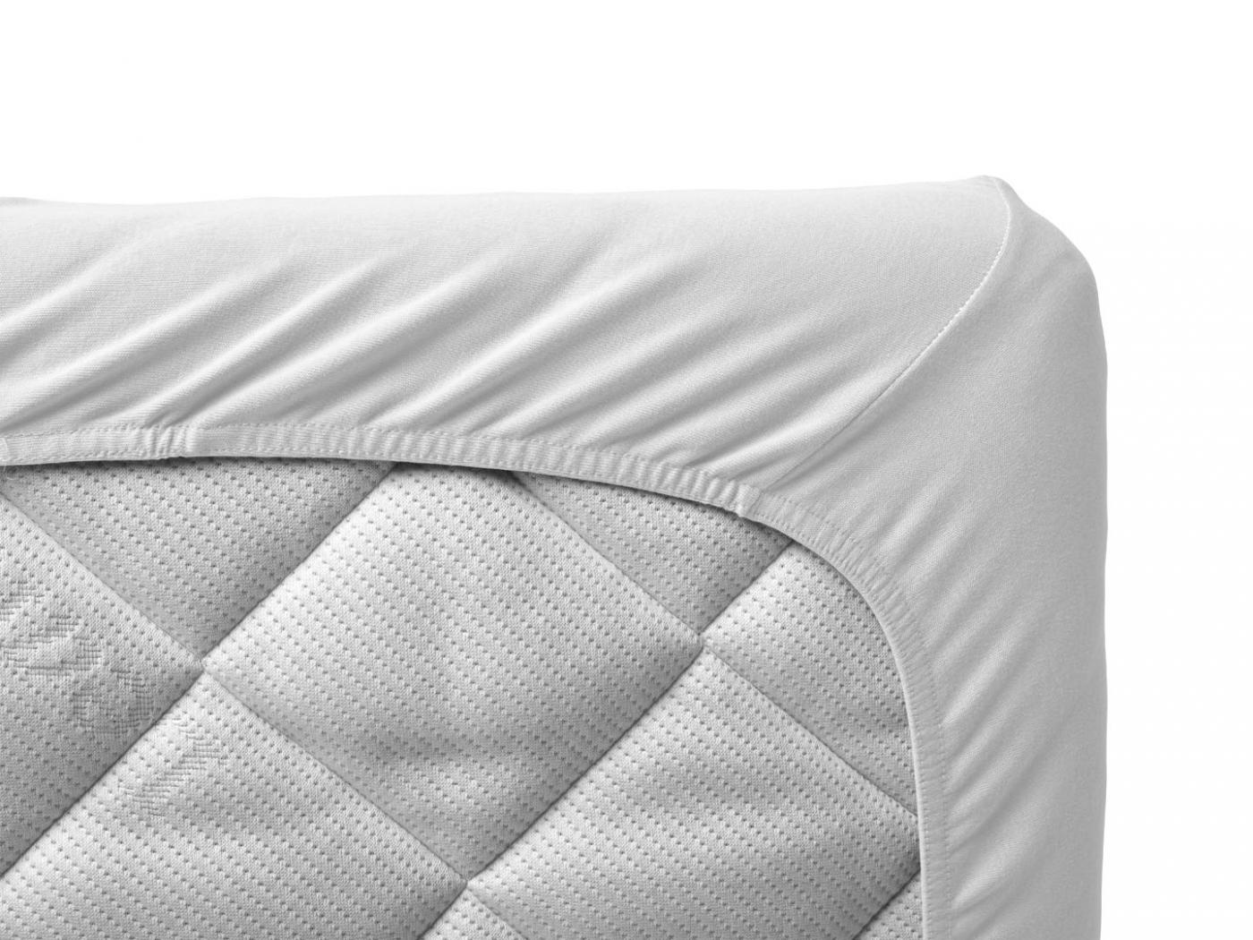 Leander draps housse b b blanc pour lit b b volutif for Drap housse lit bebe