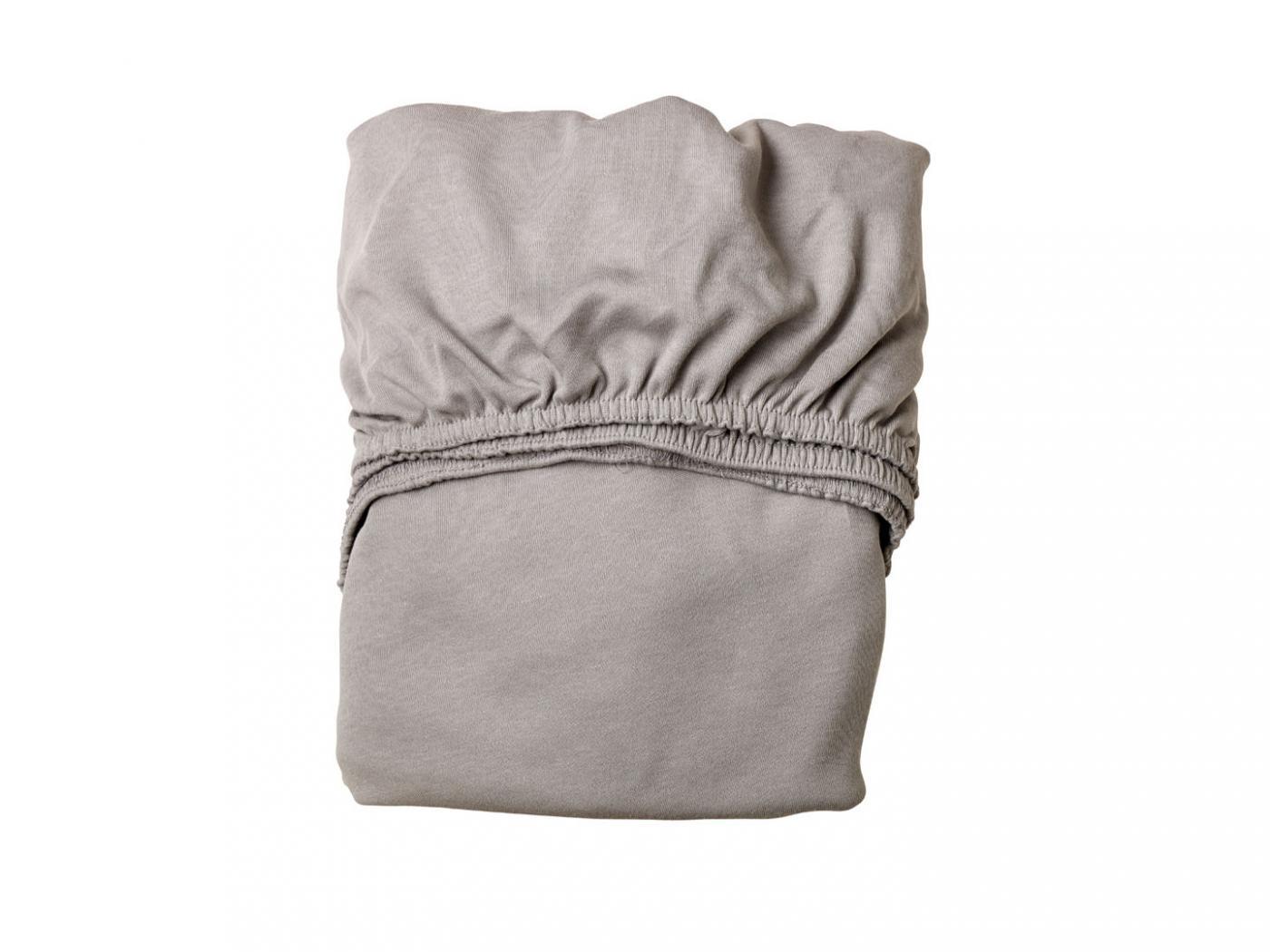 Leander draps housse b b gris clair pour lit b b volutif for Drap housse lit bebe