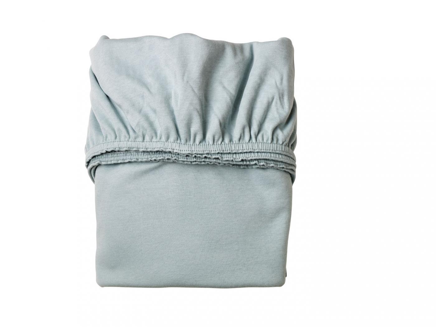 Leander draps housse b b bleu p le pour lit b b volutif for Drap housse pour lit evolutif
