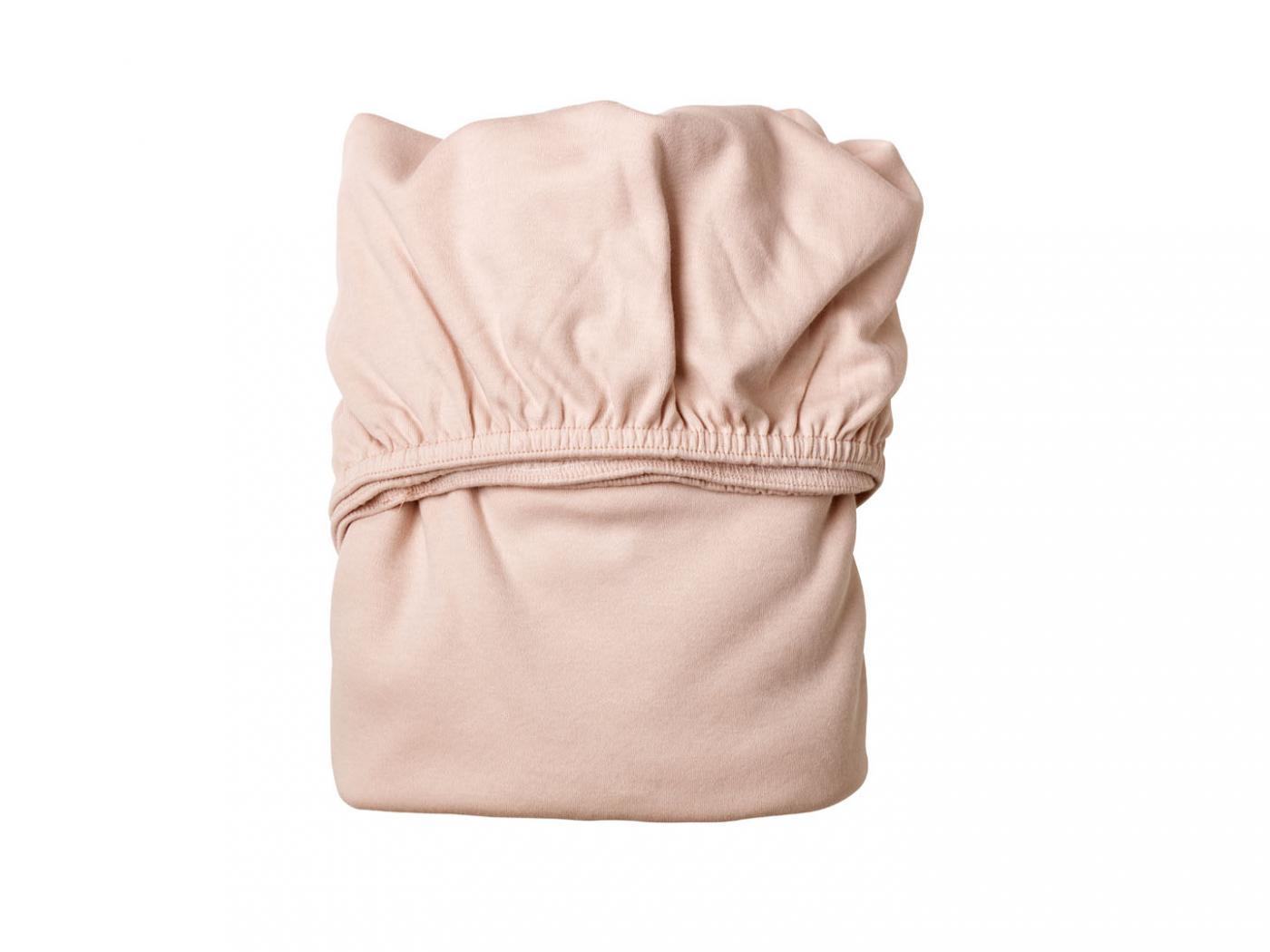 Leander draps housse b b rose p le pour lit b b volutif for Drap housse lit bebe