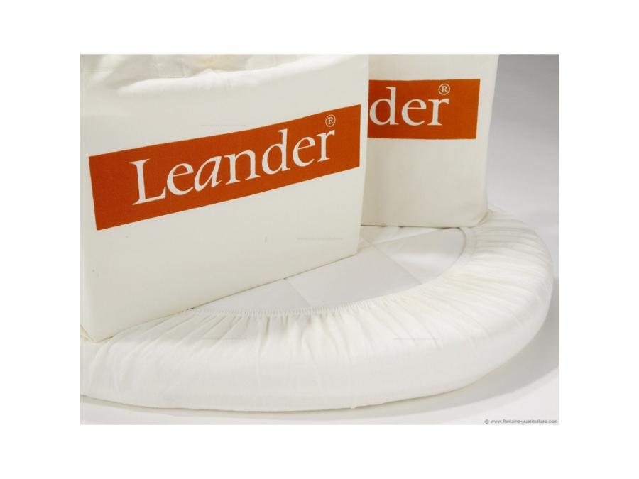 Leander lot 2 draps housse junior blanc pour lit b b for Drap housse lit evolutif