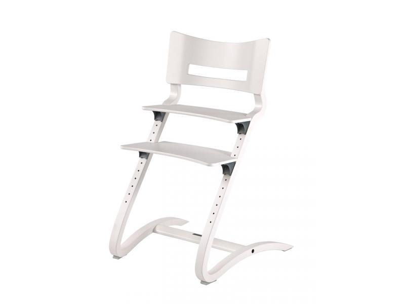 Leander chaise haute blanc satin for Chaise haute 0