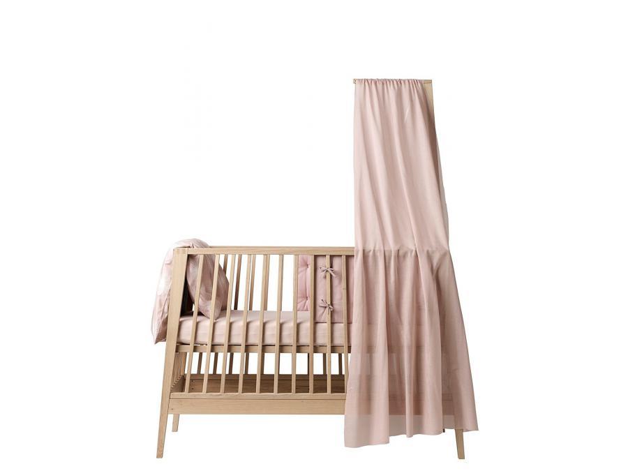leander voile de lit rose pour lit b b linea. Black Bedroom Furniture Sets. Home Design Ideas