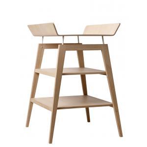 Leander - BU10 - Table à langer Linea  en chêne avec matelas et housse  Gris anthracite (342248)