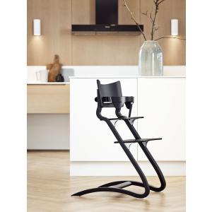 Leander - BU31 - Chaise haute evolutive et  Arceau de sécurité Noir (342290)