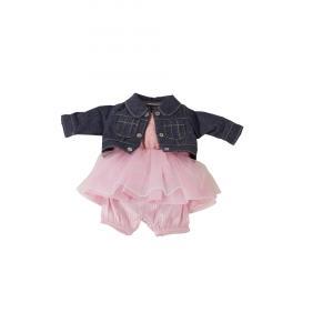 Gotz - 3402834 - Ensemble jean et robe tulle bébé 30-33cm, Taille S (342442)
