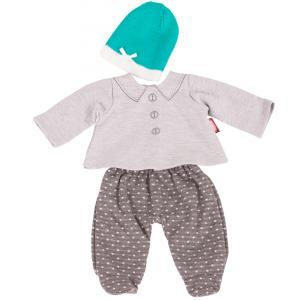 Gotz - 3402840 - Ensemble gris pois bébé 42-46cm, Taille M (342454)